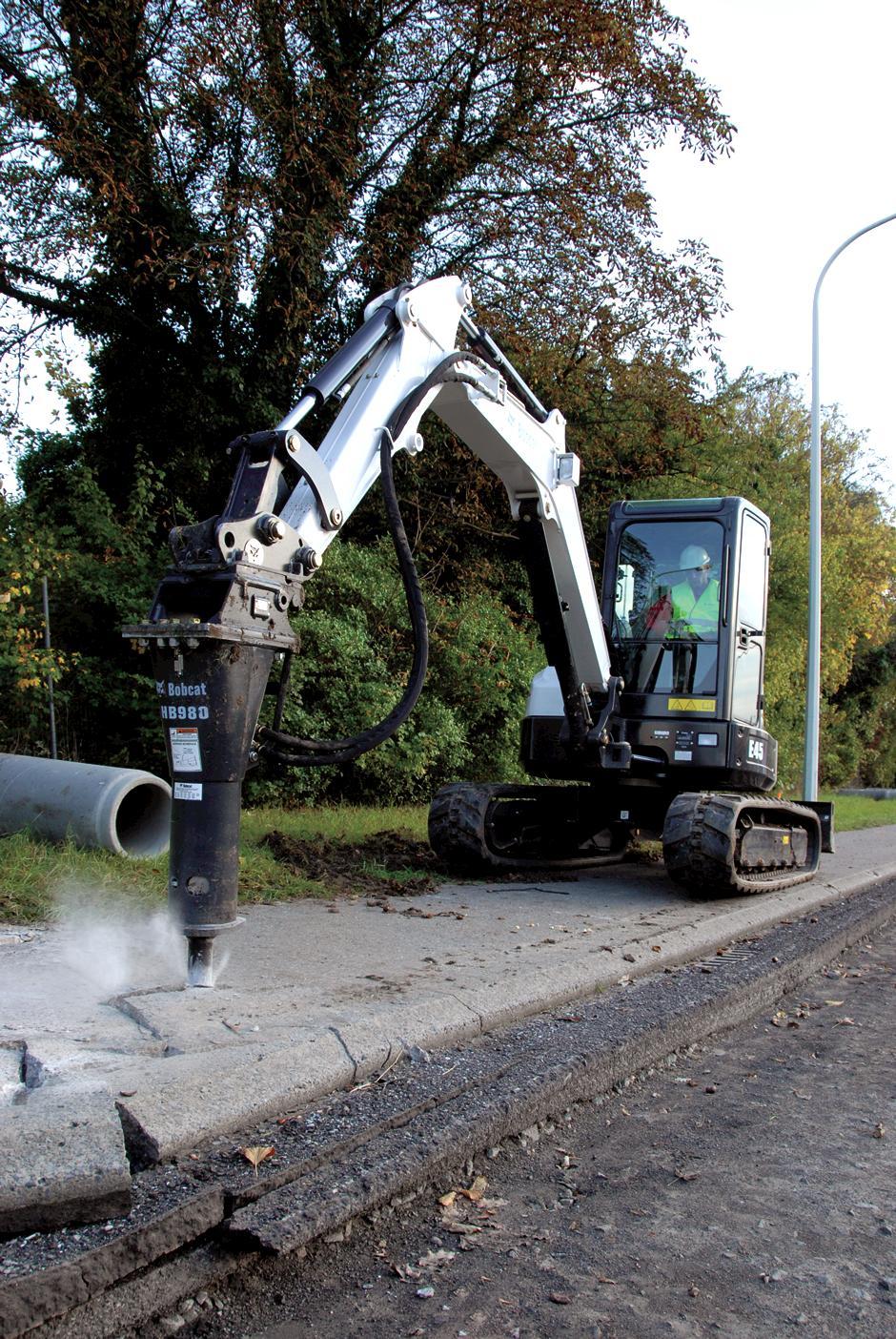 Bobcat E45 Compact Excavator Hire from TVE Hire & Sales