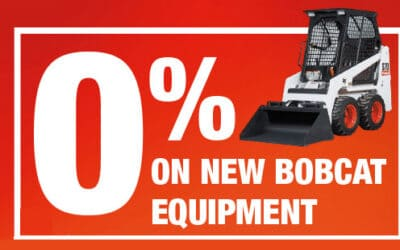 Bobcat 0% finance offer up to 5 years